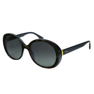 Fendi 0001/S-07OY(HD) Round Gray Gradient Sunglasses