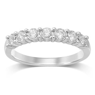 UNENDING LOVE 3/8CT TW 7 STONE LADIES DIAMOND WEDDING BAND (IJ I2-I3)