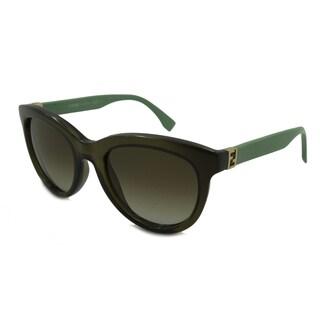 Fendi 0006/S-07RC(IF) Round Brown Gradient Sunglasses