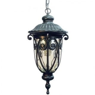 Hailee 1-Light Exterior Hanging Light with Oil-rubbed Bronze Finish