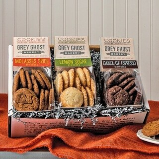 Grey Ghost Bakery Gift Box with Three Varieties