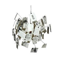 Hans Andersen Home White Glass and Steel Momento Chandelier