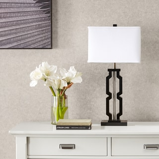 Madison Park Signature Moderne Black Table Lamp