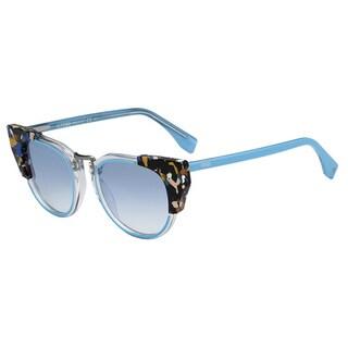 Fendi 0074/S-0RCJ(ST) Square Azure Gradient Sunglasses