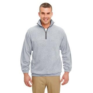 Men's Grey Iceberg Fleece 1/4-zip Big and Tall Pullover Sweater