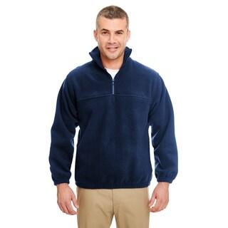 Iceberg Fleece Men's 1/4 Zip Navy Big and Tall Pullover Sweater