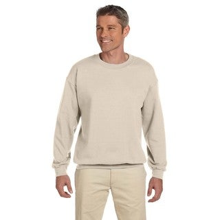 Gildan Men's Sand Cotton/Polyester Fleece Big and Tall Crewneck Sweater