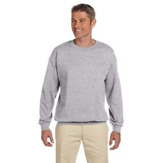 50/50 Men's Grey Fleece Big and Tall Crew Neck Sport Sweater