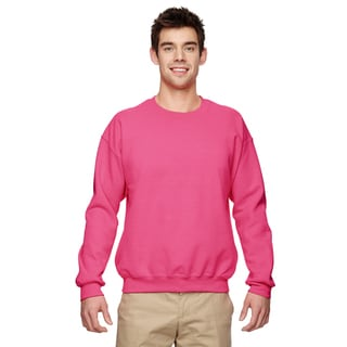 Gildan Men's Big and Tall Safety Pink 50/50 Fleece Crewneck Sweater
