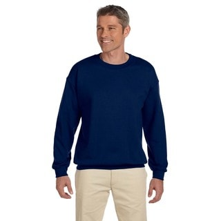 Gildan Men's Navy 50/50 Cotton/Polyester Fleece Big and Tall Crewneck Sweater