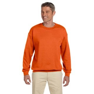 50/50 Men's Big and Tall Orange Fleece Crew-Neck Sweater