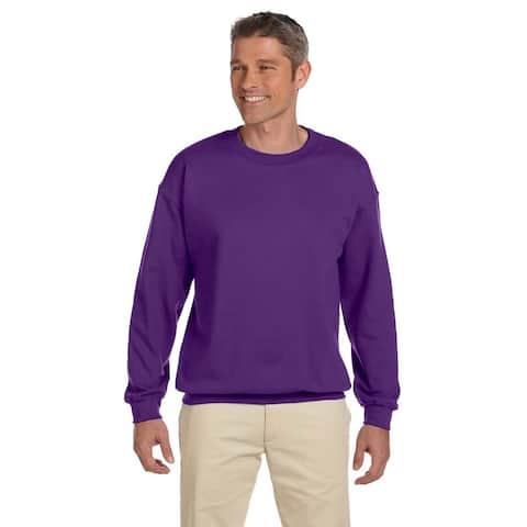 Men's Purple 50/50 Fleece Big and Tall Crewneck Sweater