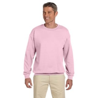 Gildan Men's Light Pink 50/50 Cotton/Polyester Fleece Big and Tall Crewneck Sweater