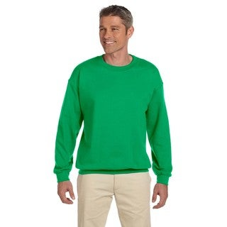 50/50 Fleece Men's Big and Tall Irish Green Cotton/Polyester Crew-neck Sweater