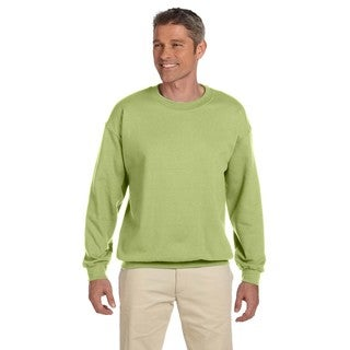 Gildan Men's Big and Tall Kiwi-colored 50/50 Fleece Crewneck Sweater