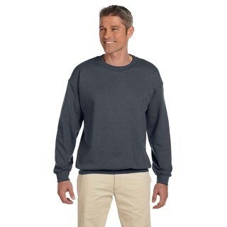 Men's Dark Heather 50/50 Cotton/Polyester Fleece Big and Tall Crewneck Sweater