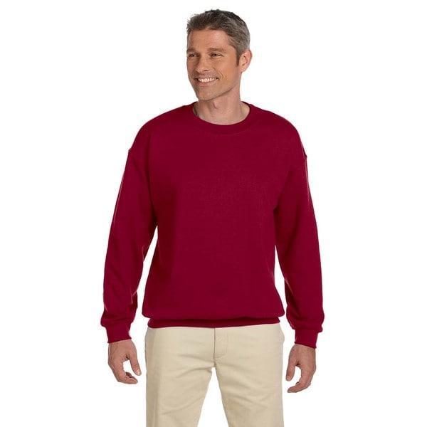 Gildan Mens Cardinal Red 50/50 Fleece Big and Tall Crewneck Sweater