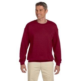 Gildan Men's Antique Cherry Red 50/50 Cotton/Polyester Big and Tall Crewneck Sweater