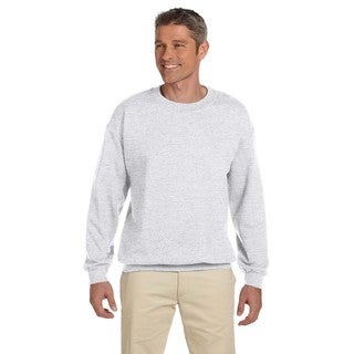Gildan Men's Big and Tall Ash-colored 50/50 Fleece Crewneck Sweater