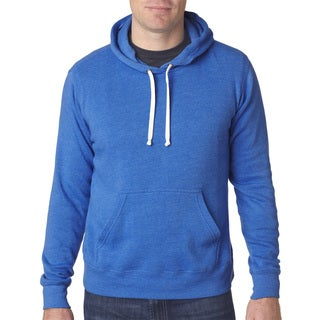 Men's Big and Tall Royal Blue Triblend Fleece Pullover Hooded Sweatshirt