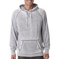 Men's Cement Grey Fleece Big and Tall Hooded Pullover