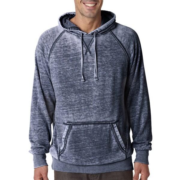 Zen Mens Vintage Navy Fleece Big and Tall Hooded Pullover Sweater