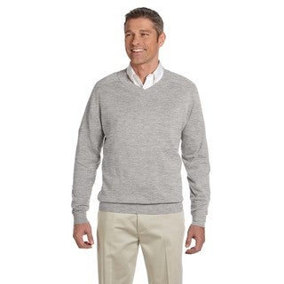 Men's Grey Heather V-neck Big and Tall Sweater