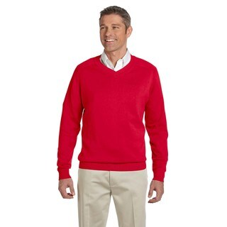 Men's Red V-Neck Big and Tall Sweater