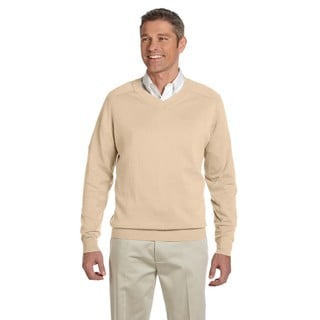 Men's Stone Cotton Big and Tall V-neck Sweater