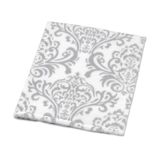 Sweet Jojo Designs Damask Print Plush Baby Blanket for Lavender and Gray Elizabeth Collection