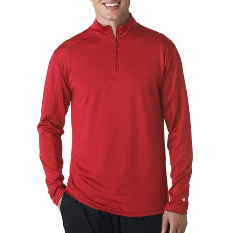 Men's Big and Tall Red Lightweight Zip Pullover Jacket