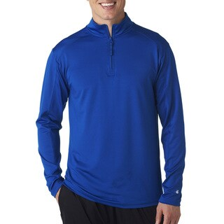 Badger Men's Big and Tall Royal Blue Polyester/Spandex Zippered Lightweight Pullover Jacket