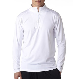 Men's White Big and Tall Zip Lightweight Pullover Jacket