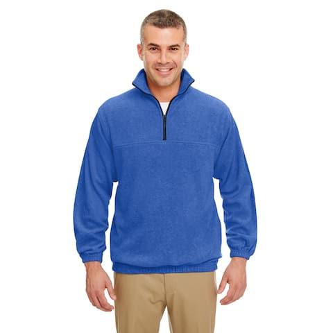 Iceberg Men's Royal Blue Fleece Big and Tall Quarter-zip Pullover Sweater