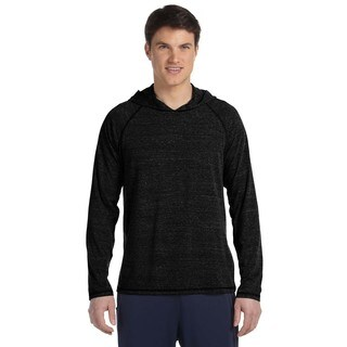Men's Performance Triblend Charcoal Heather Long-sleeved Hooded Big and Tall Pullover Sweater