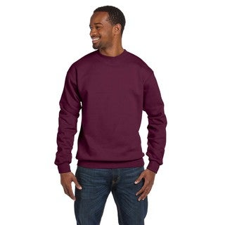 Gidan Men's Maroon Ringspun Big and Tall Crew-Neck Sweater