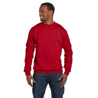 Ringspun Men's Big and Tall Red Crew-Neck Sweater