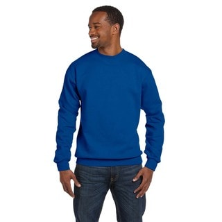 Gildan Men's Royal Blue Cotton/Polyester Ringspun Big and Tall Crewneck Sweater