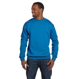 Gildan Men's Big and Tall Sapphire-colored Polyester/Ringspun Cotton Crewneck Sweater