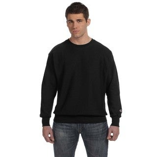Champion Men's Black Big and Tall Crew Neck Sweater