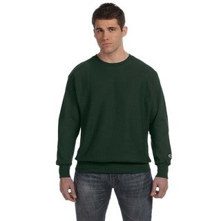 Champion Men's Dark Green Cotton/Polyester Big and Tall Crewneck Sweater