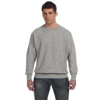 Men's Oxford Gray Cotton/Polyester Big and Tall Crewneck Sweater
