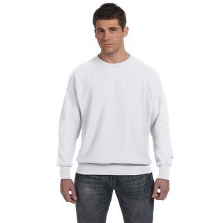 Champion Men's Silver/Grey Cotton/Polyester Big and Tall Crewneck Sweater