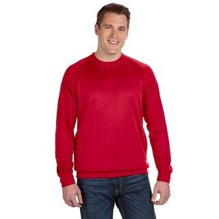 Tech Men's Big and Tall Fleece Red Crewneck Sweater