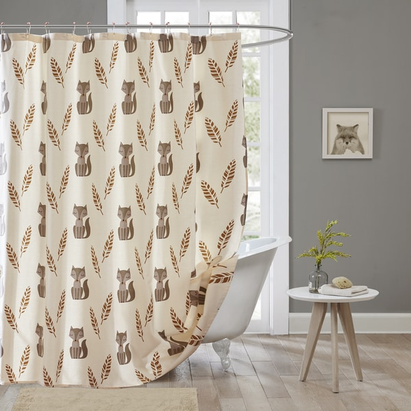 HipStyle Multi Todd 100% Cotton Shower Curtain