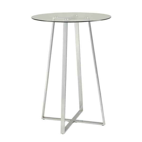 Coaster Cermak Contemporary Square Black Metal Base Glass: Coaster Company Silver Bar Table