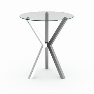 Silver Metal Bar Table
