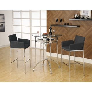 Coaster Company Glass Top Chrome Bar Table