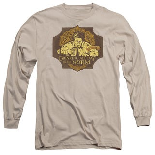 Cheers/The Norm Long Sleeve Adult T-Shirt 18/1 in Sand