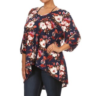 Plus Size Women's Floral Tunic